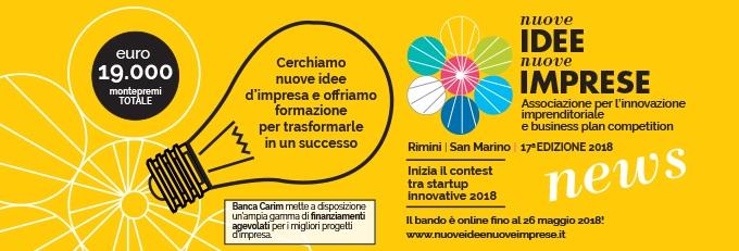 Nuove Idee Nuove Imprese. Contest tra startup innovative. Premi per 19mila Euro