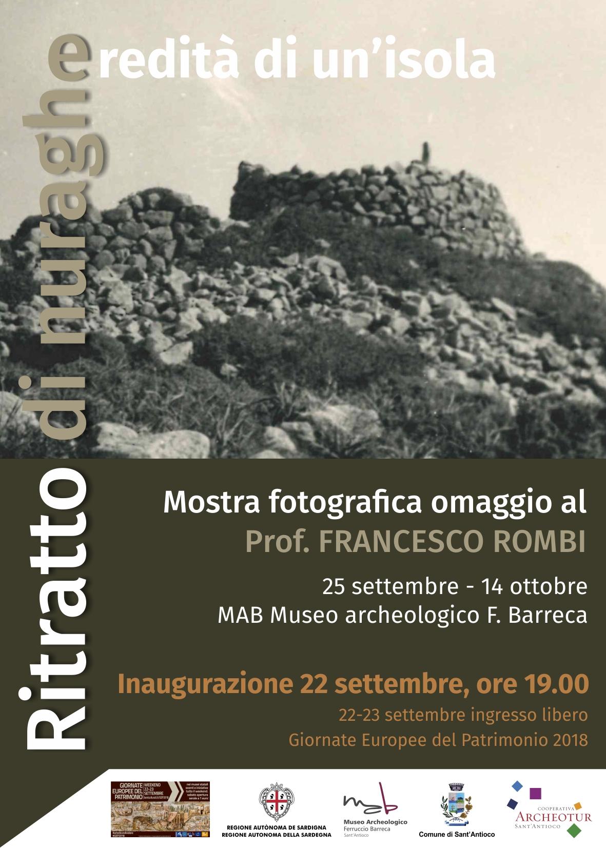 """Mostra fotografica al MAB: """"Ritratto di Nuraghe, eredità di un'isola – omaggio al professor Rombi"""""""